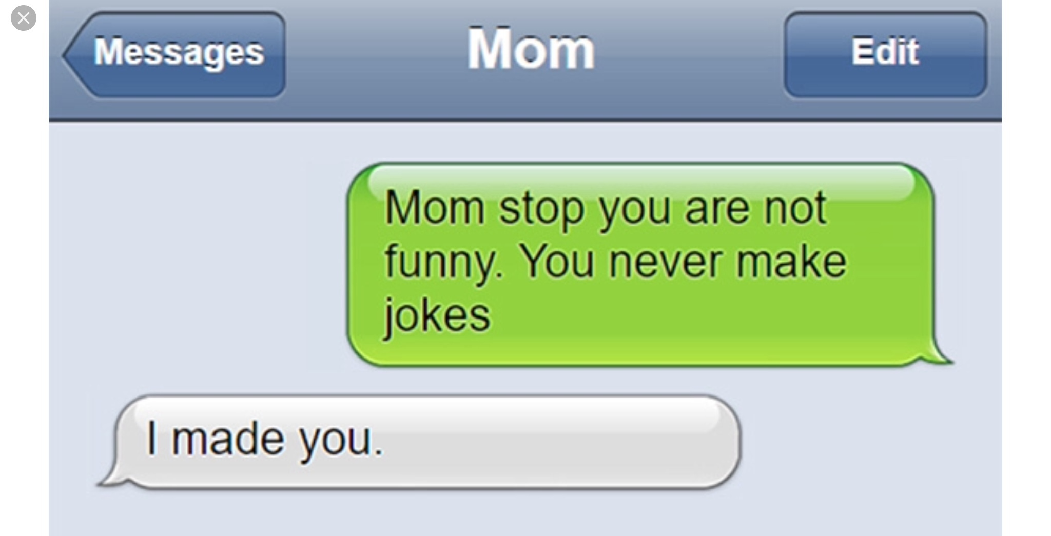 Mean text messages meme