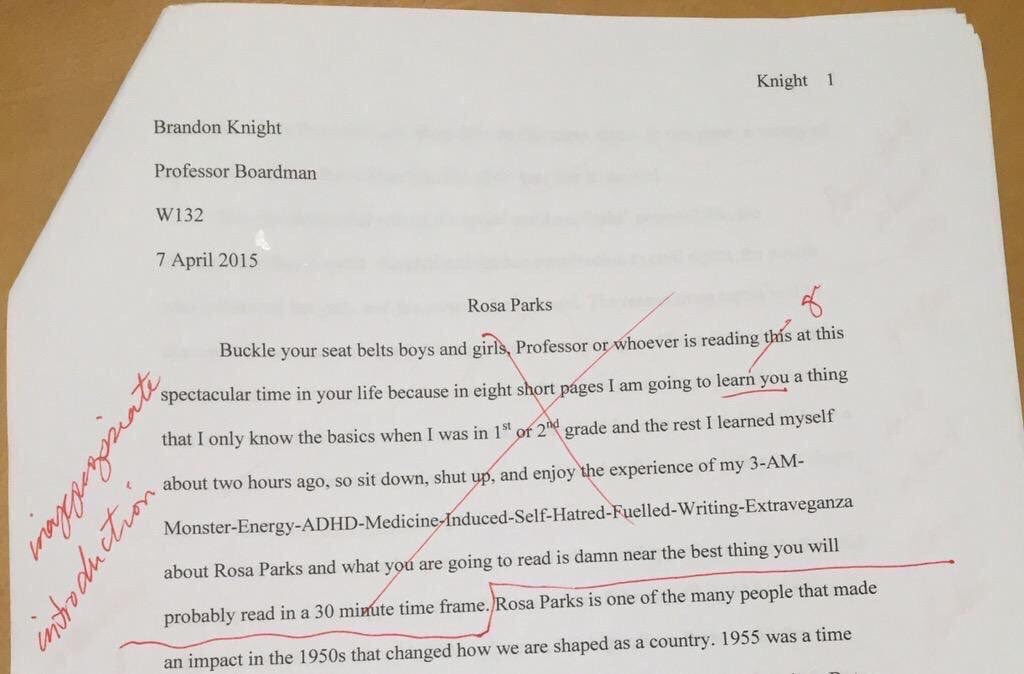 What does it mean when I do better on essays than facts and fill in the blanks?