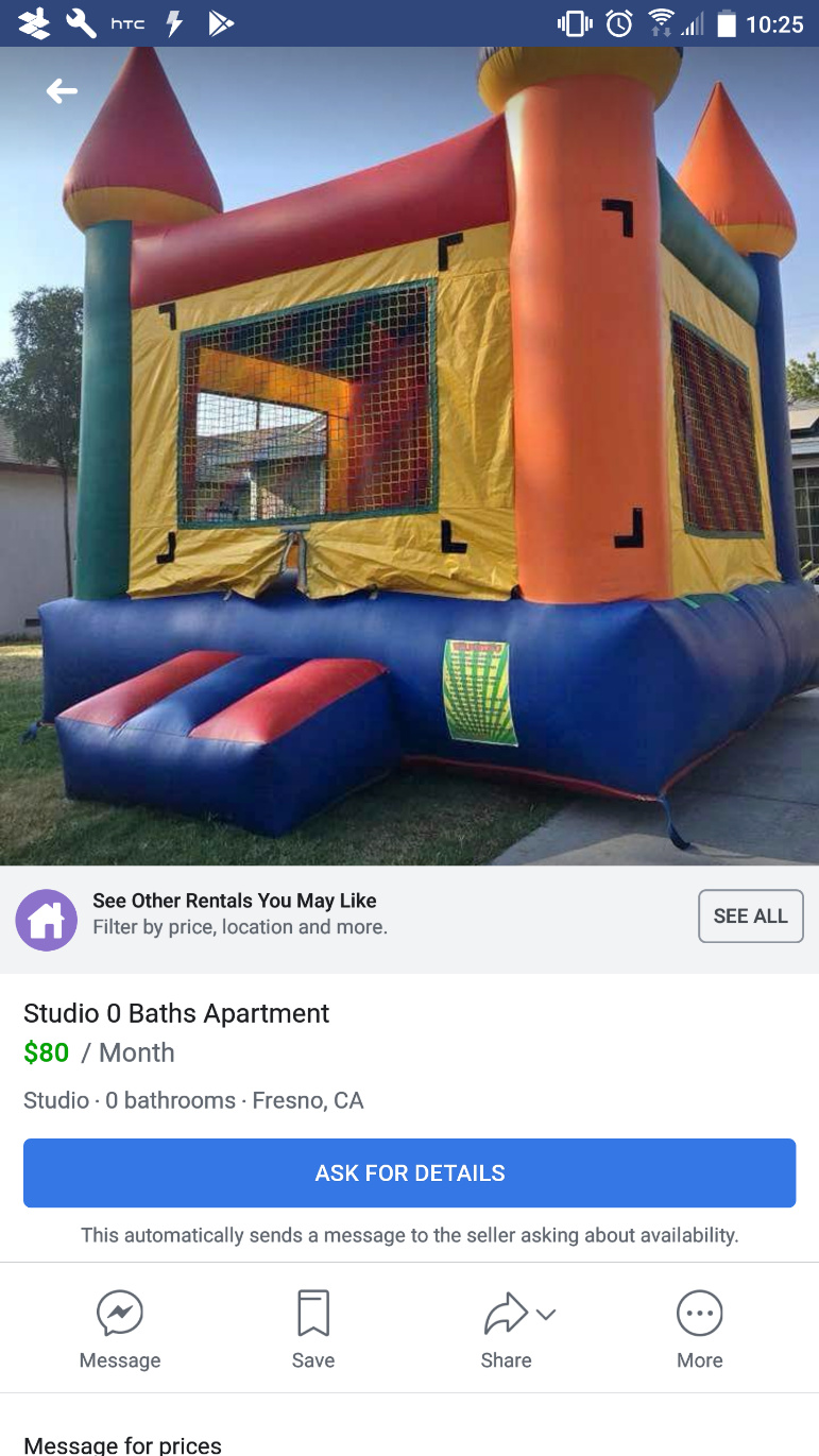 Up for rent on Facebook market place - Meme by Shadow_Lurker321