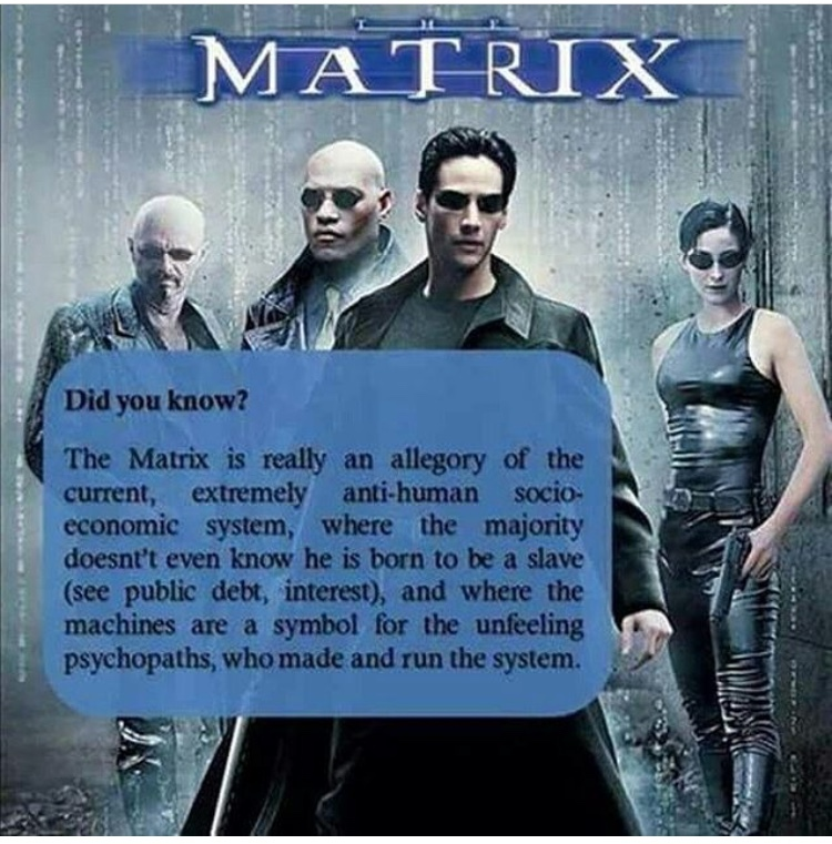 comparison of the matrix and the allegory The allegory of the cave, also commonly known as myth of the cave, metaphor of the cave, the cave analogy, or the parable of the cave, is an allegory used by the greek philosopher plato in his.
