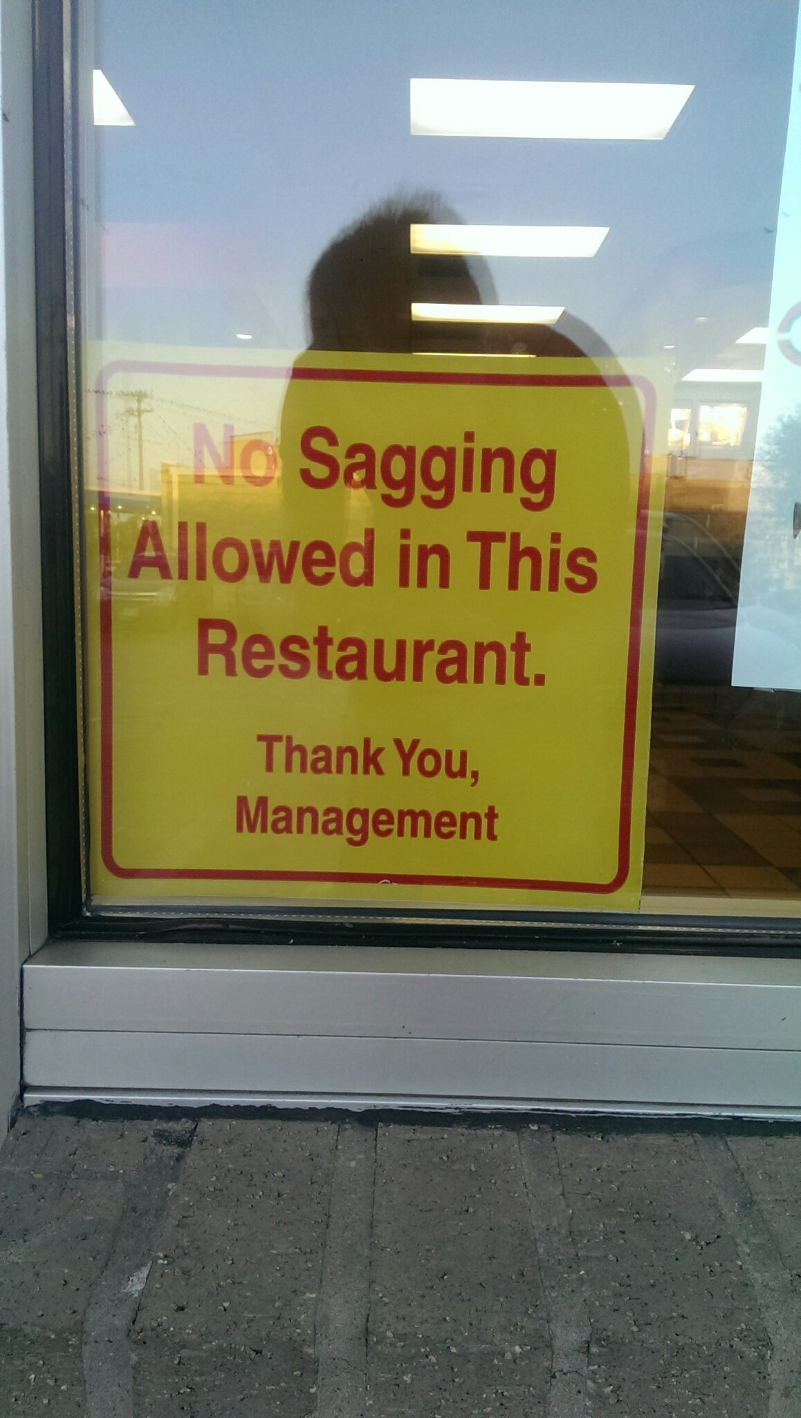 The fact that this sign even had to be put up!