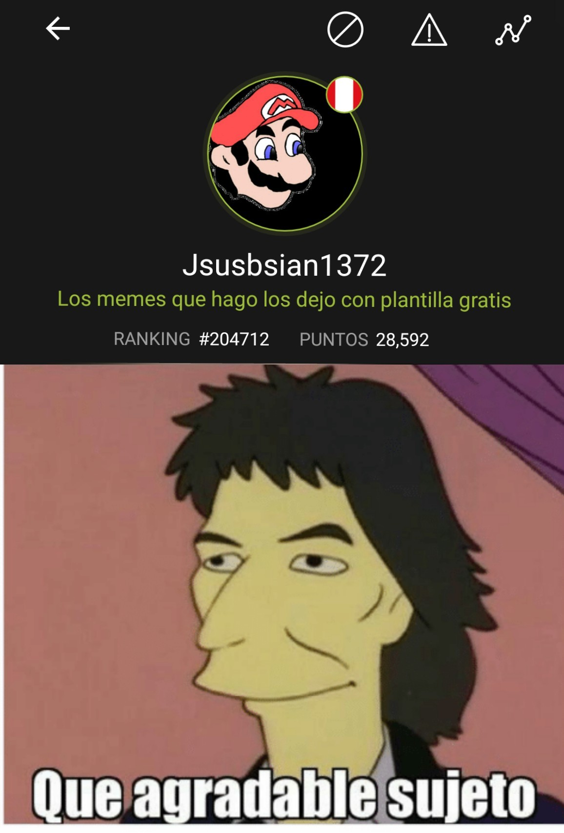 Meme Que Agradable Sujeto