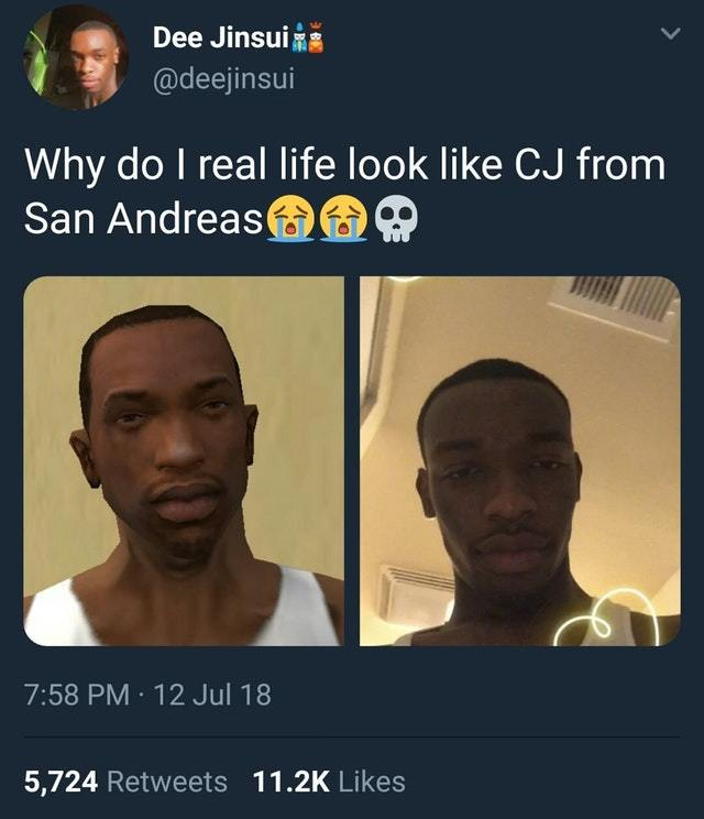 Real CJ from San Andreas - Meme by Bolt93 :) Memedroid