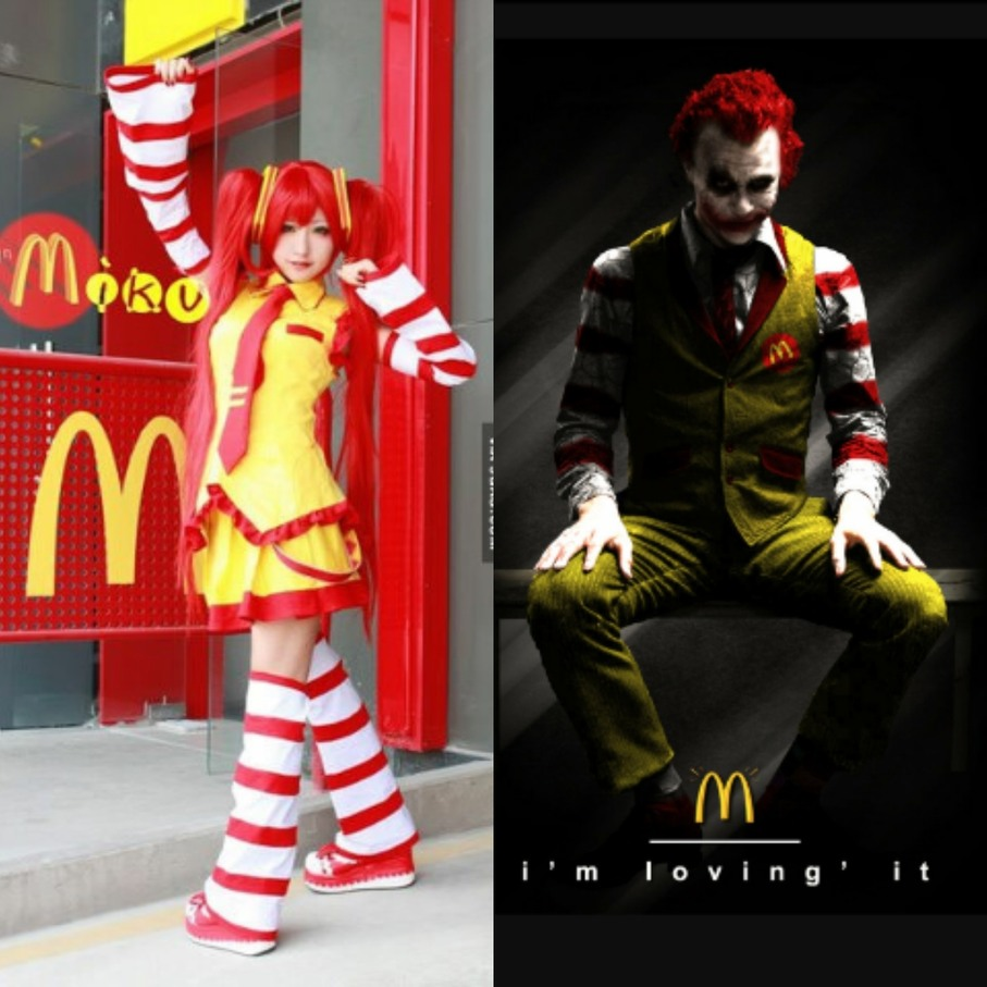 "Miku McDonalds and ""Why so fat?""  joker."
