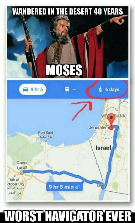 If only Moses had Google