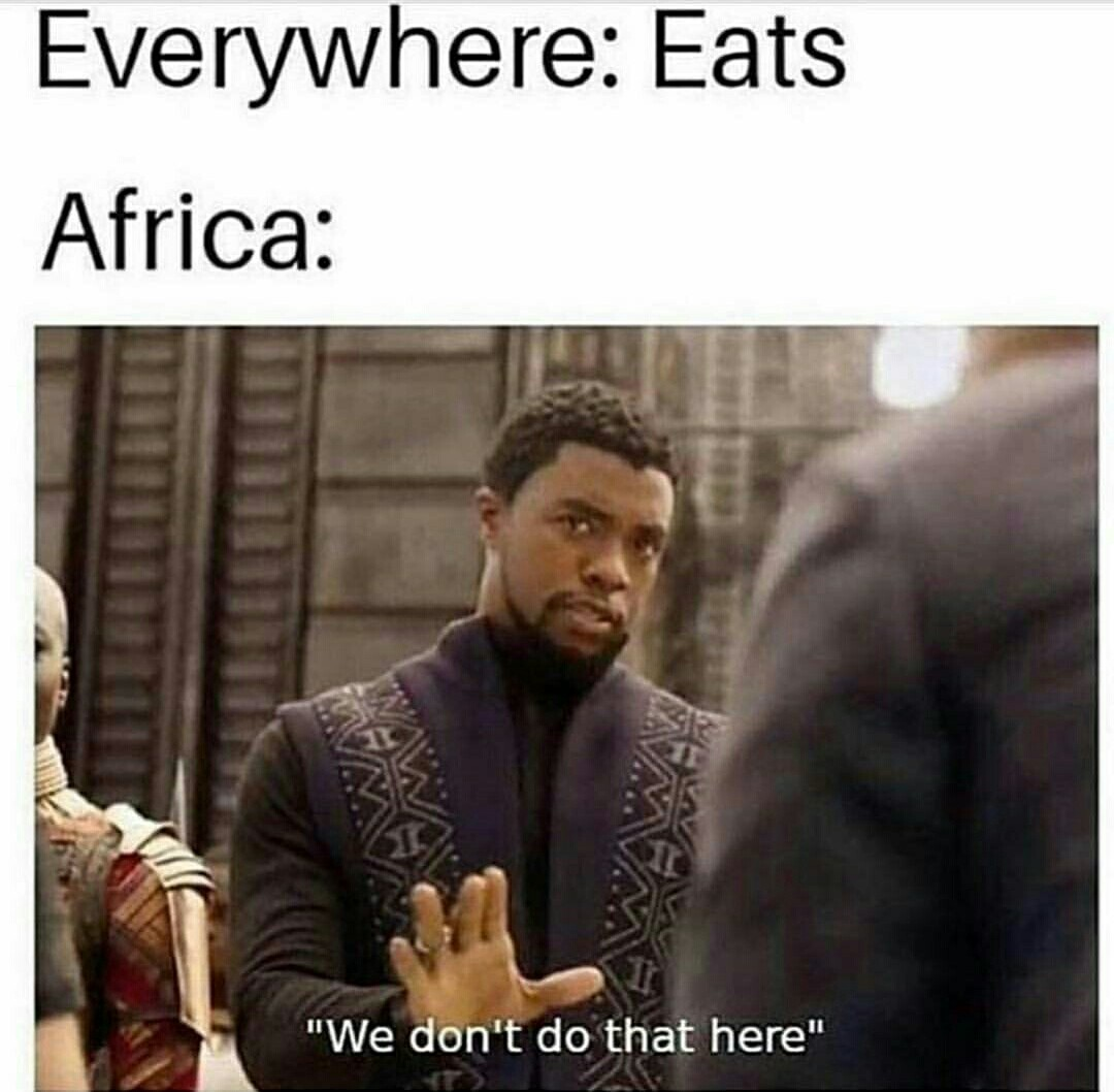 Do They Follow Back In Africa Because From Here We Do Meme By