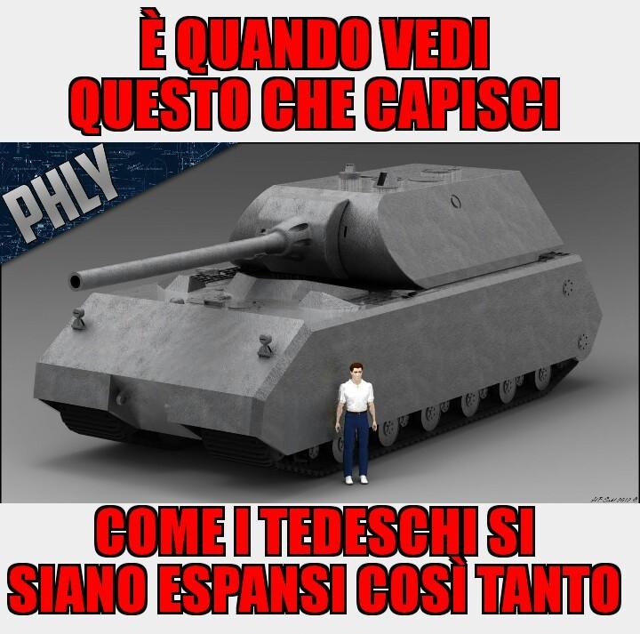 """Ed ecco a voi il MAUS (in tedesco """"topo"""") un carro con corazza spessa 10 cm e potenza di fuoco incredibilmente potente - meme"""