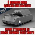 """Ed ecco a voi il MAUS (in tedesco """"topo"""") un carro con corazza spessa 10 cm e potenza di fuoco incredibilmente potente"""