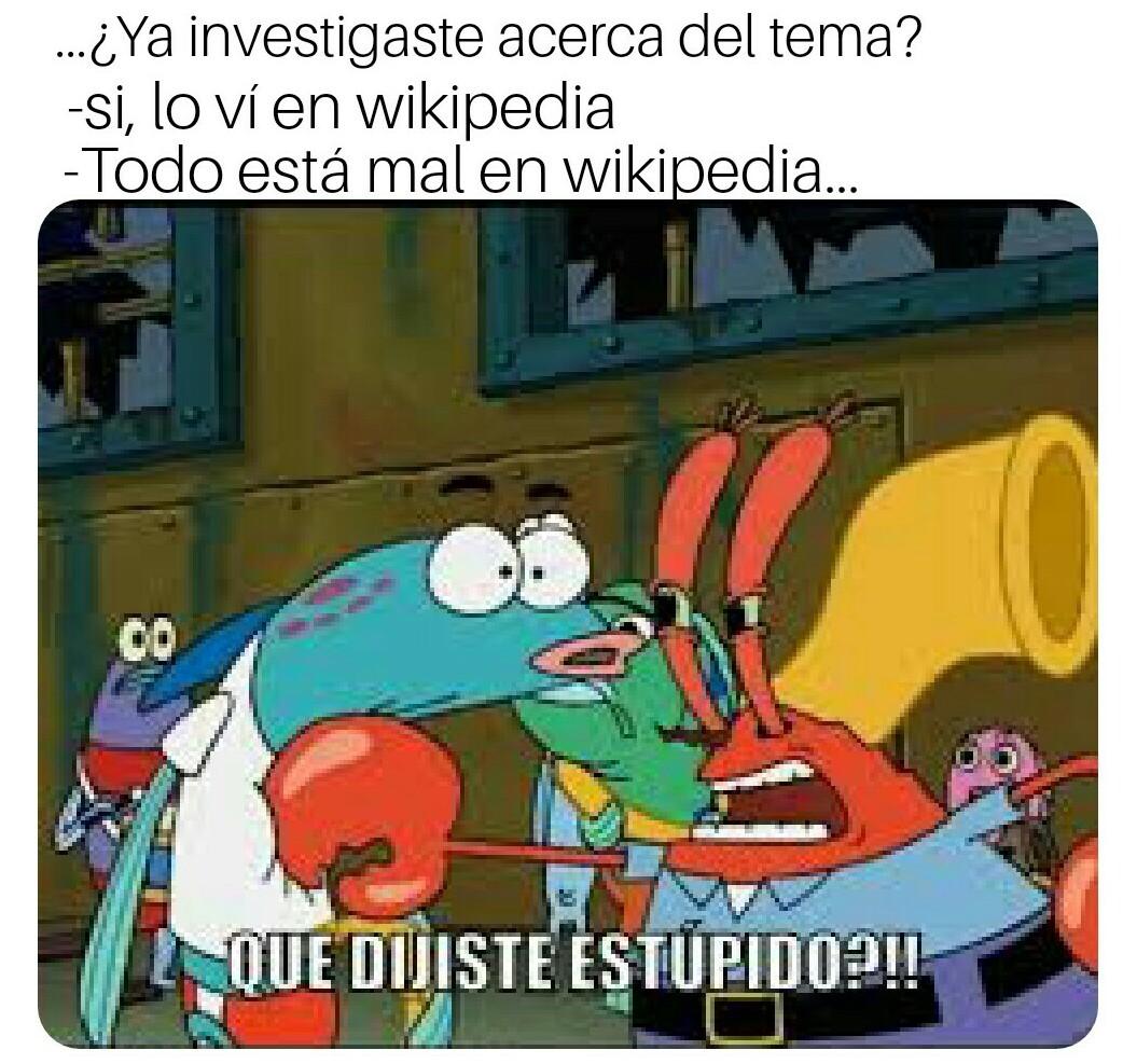 Respeten a WikiPedia - meme