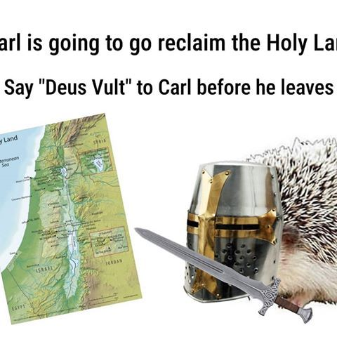 Carl goes to the holy land - meme