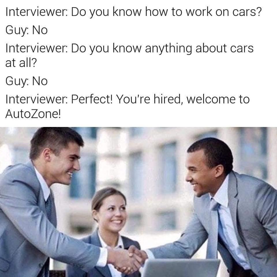 AutoZone sucks - meme
