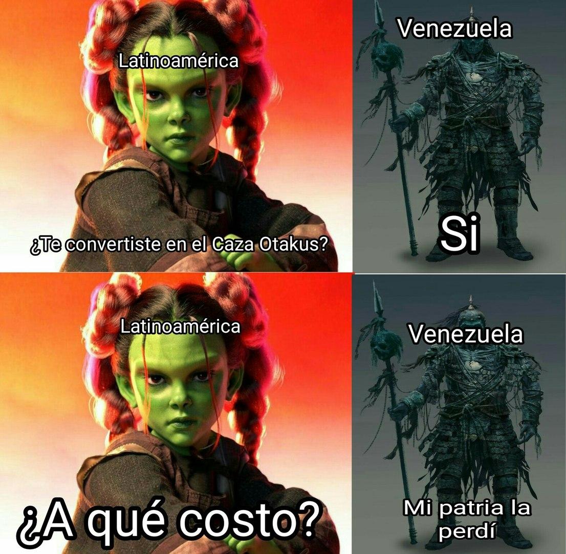 Un sacrificio para salvar el mundo - meme
