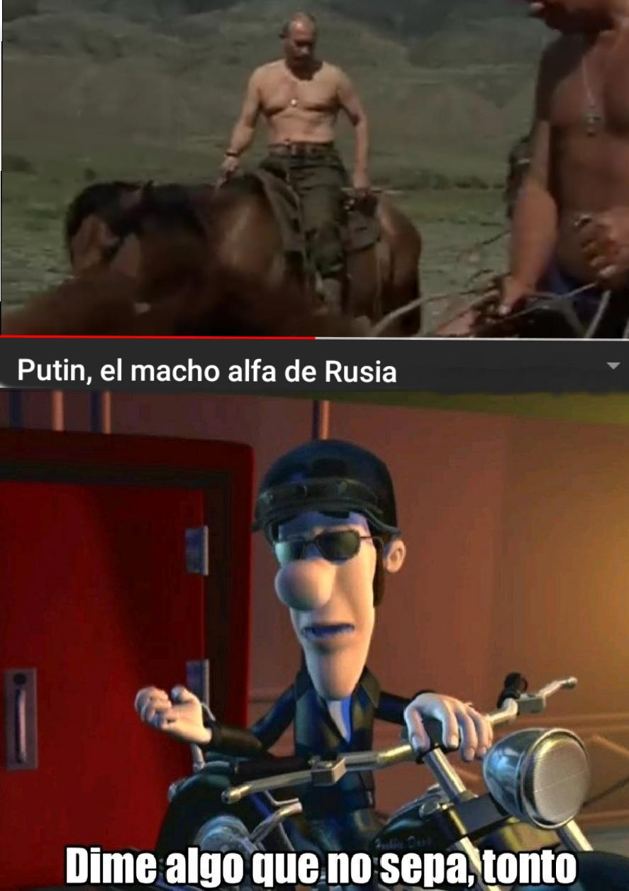 Es el macho alfa pero no solo de rusia - meme