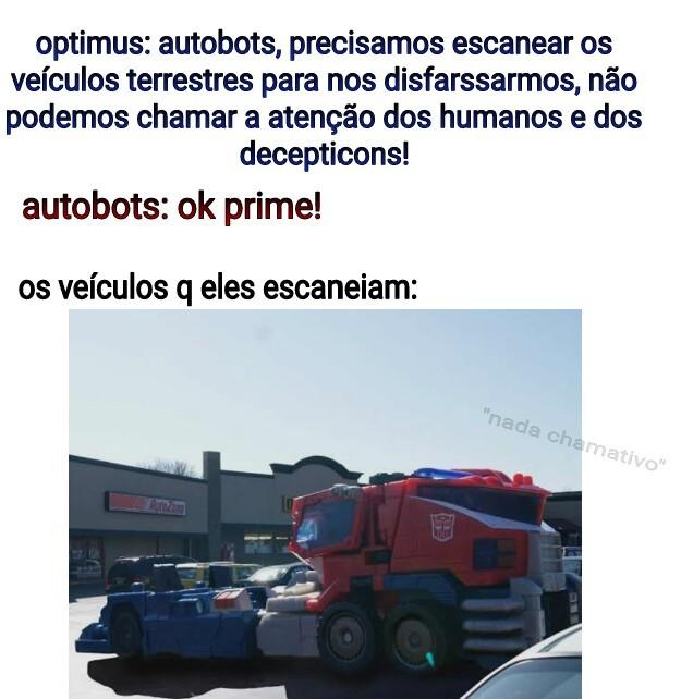 veículos nada chamativos - meme