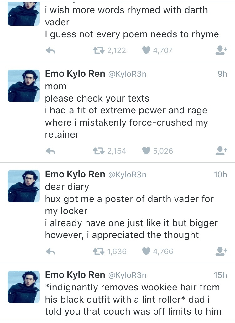 Emo Kylo Ren is Emo - meme