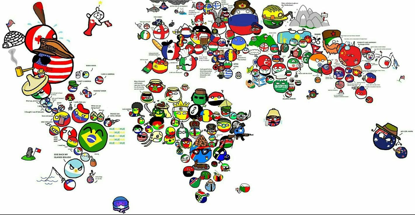 """El mundo con su propia """"ball"""" - meme"""