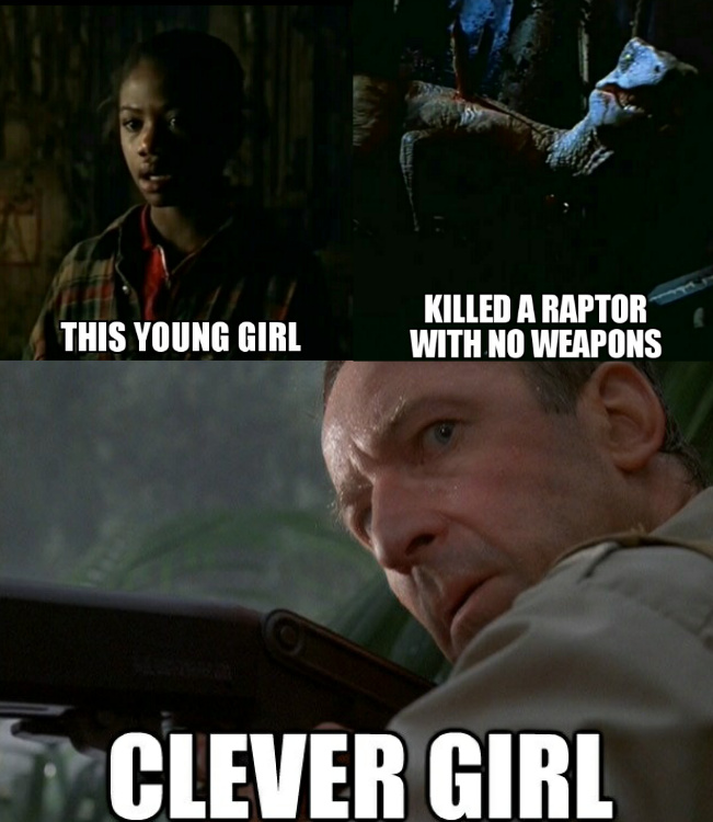Kelly is the new clever girl - meme