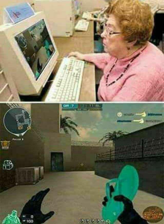 Asi seria mi mama jugando - meme