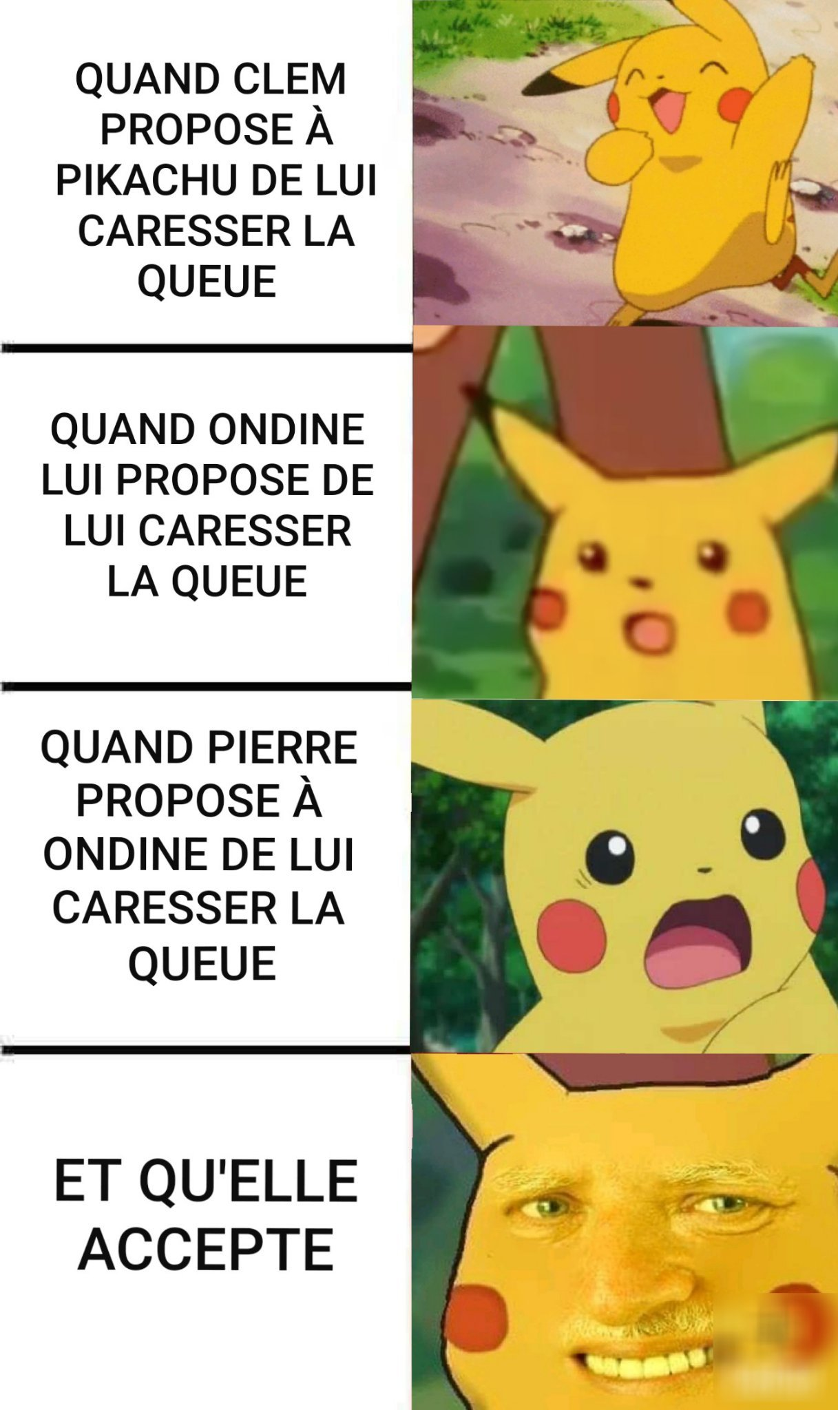 PIKACHU LE QUEUE-TARD (queutard) - meme