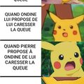 PIKACHU LE QUEUE-TARD (queutard)