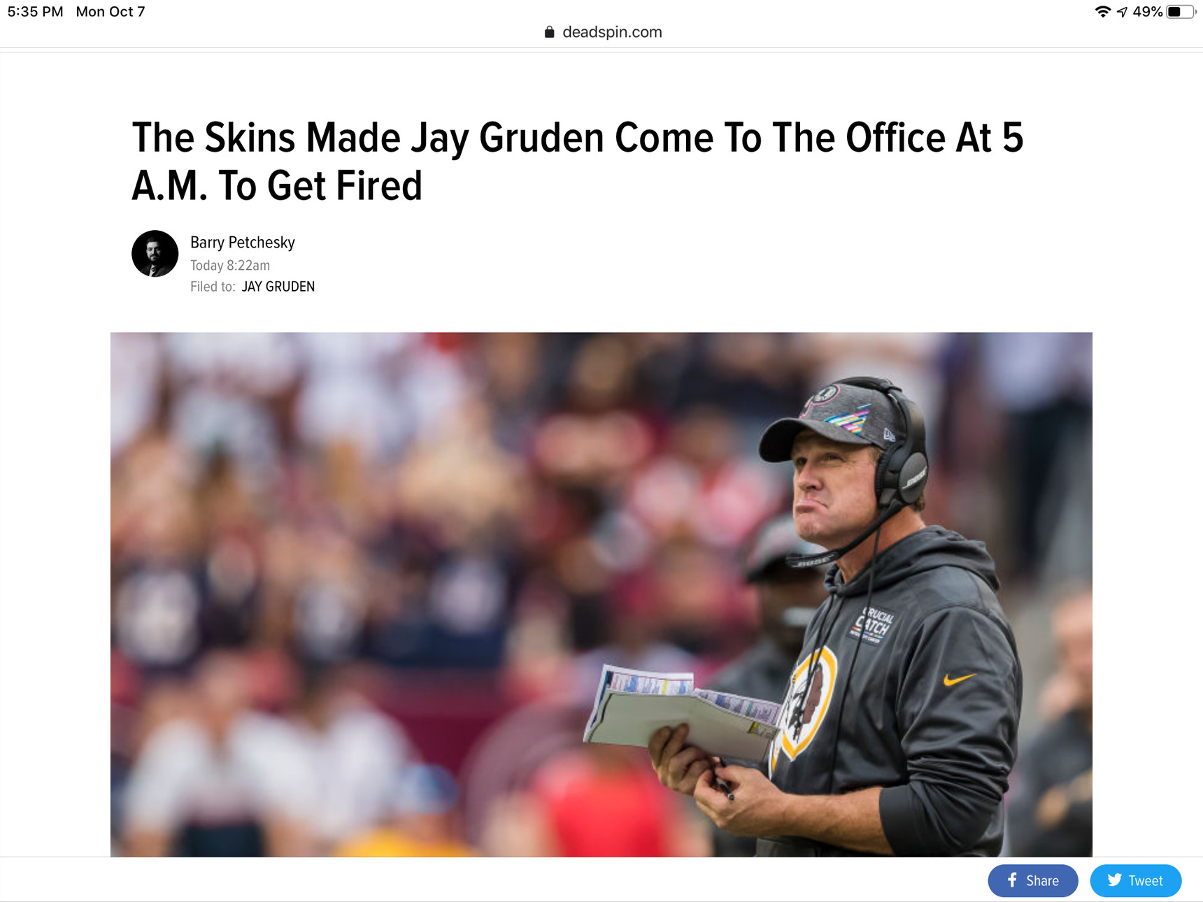 The redskins are savages - meme
