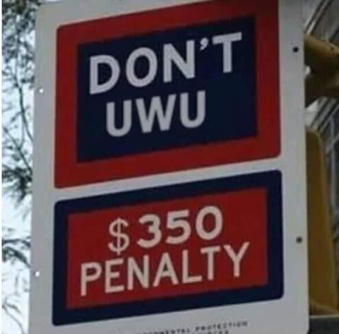No uwu, primer aviso - meme