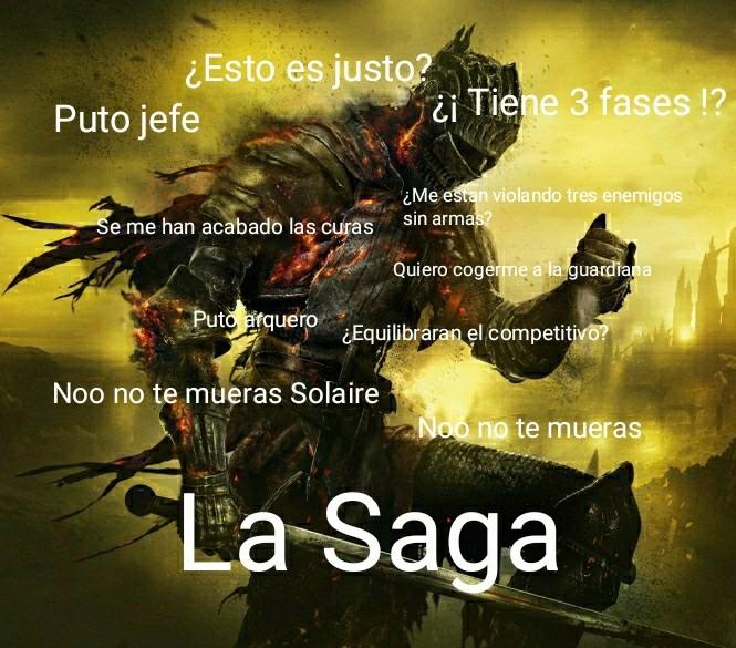 Resumen de la saga Soulsborne - meme