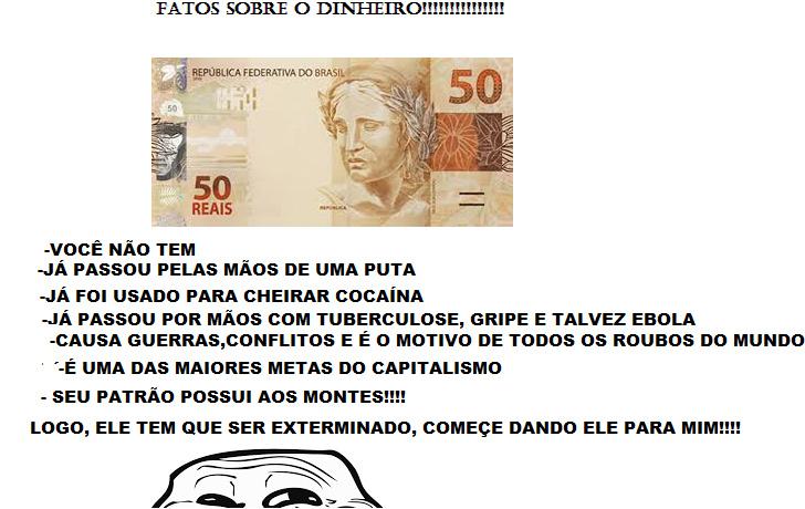 FATOS AVASSALADORES SOBRE O MONEY - meme
