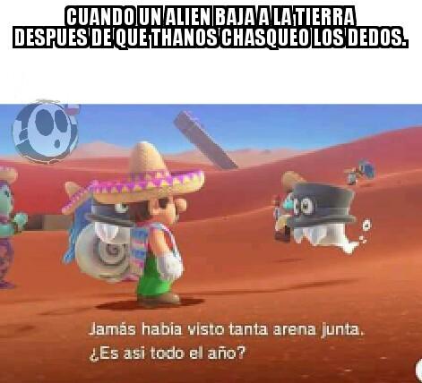 Este alien NO fue parte de la mitad del universo que desaparecio - meme