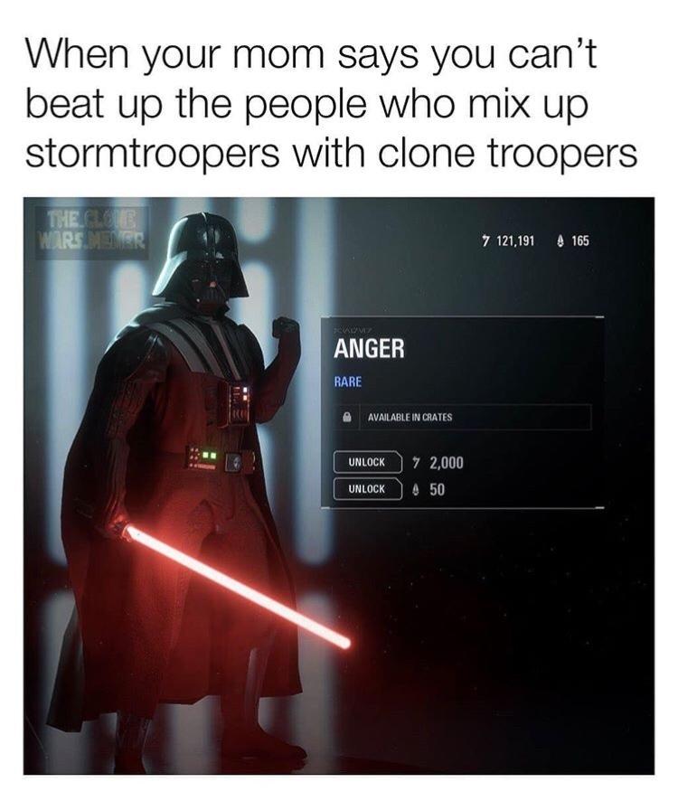Clones>stormtroopers - meme