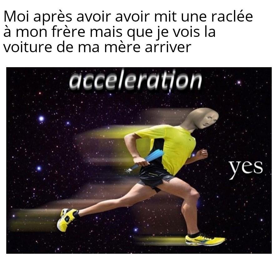 Acceleration - meme