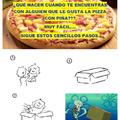 La pizza con piña es lo mejor