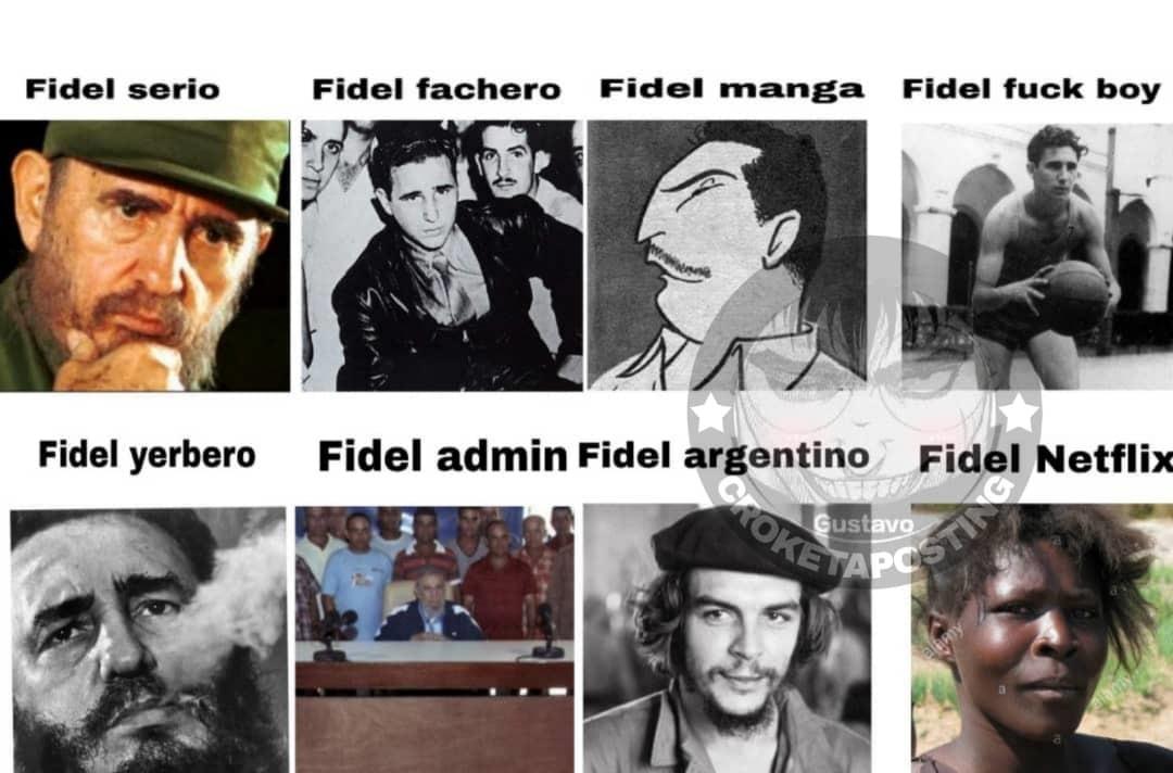 Fidel everywhere - meme