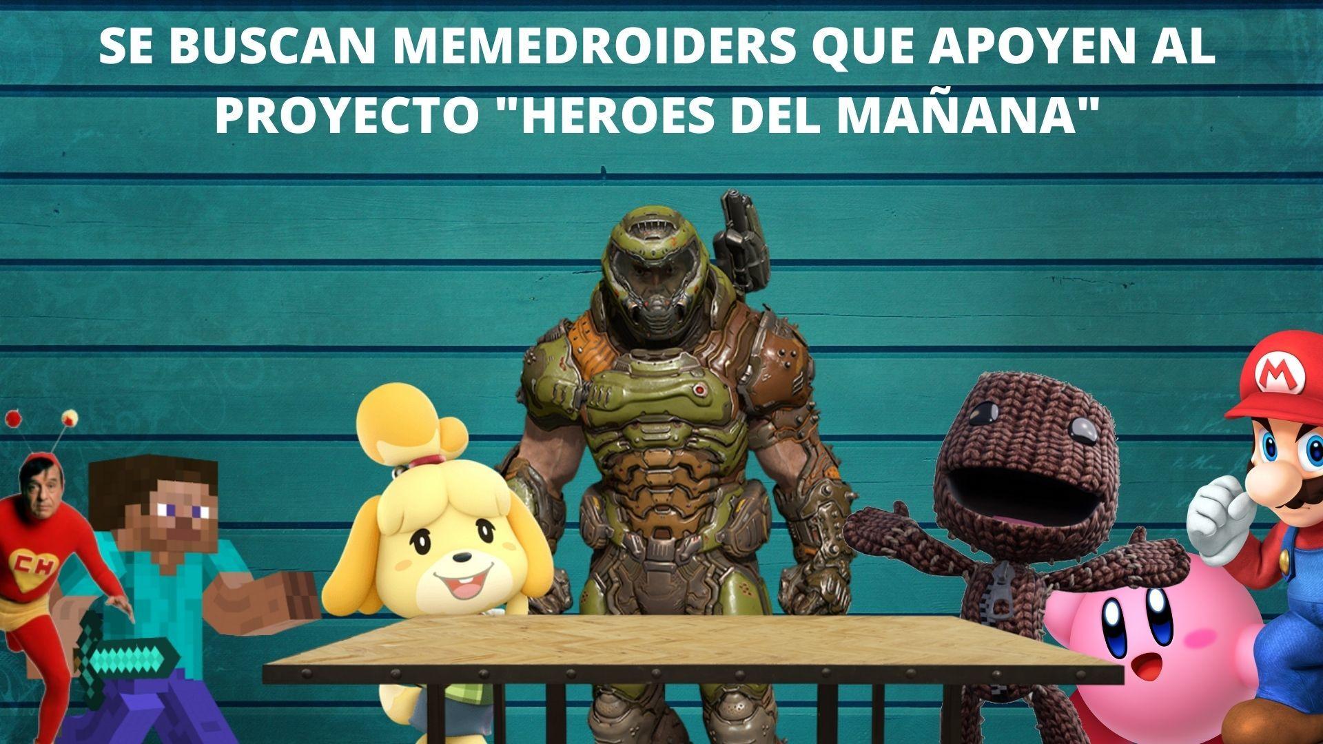 busco ayuda para la serie de HEROES DEL MAÑANA - meme