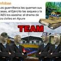 El primero es del ejército, el segundo es un ELN, el tercero es un FAES y el último un Miliciano chavista