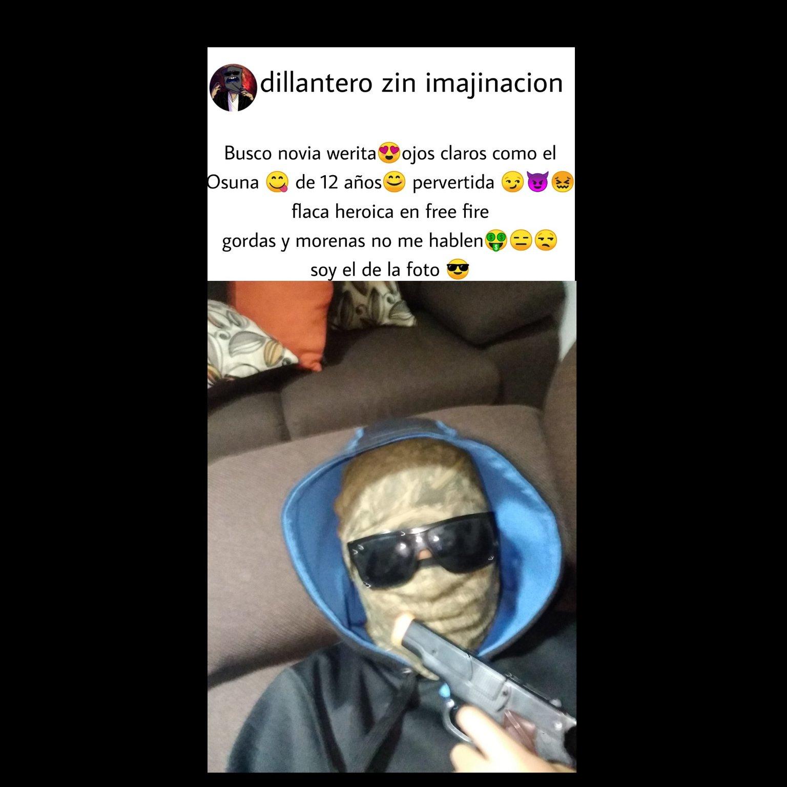 Dillantero zin imajinacion - meme
