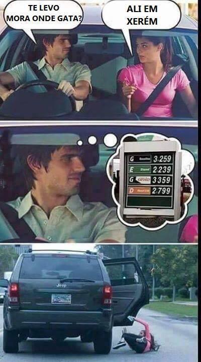 Aumento da Gasolina - meme