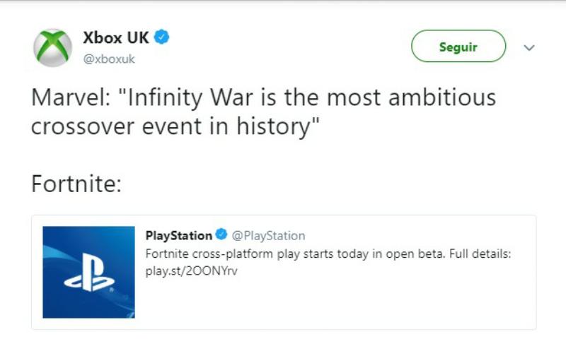 Finalmente cross-play - meme