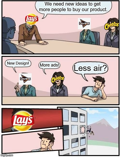 Most bags are full of air - meme