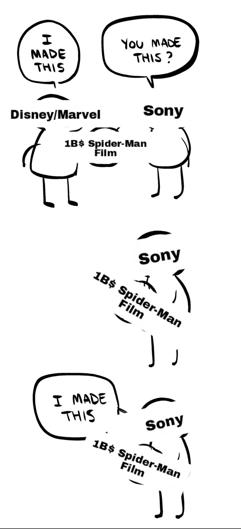 Sony is the kid who brought pencils for the projects and expects to take full credit - meme