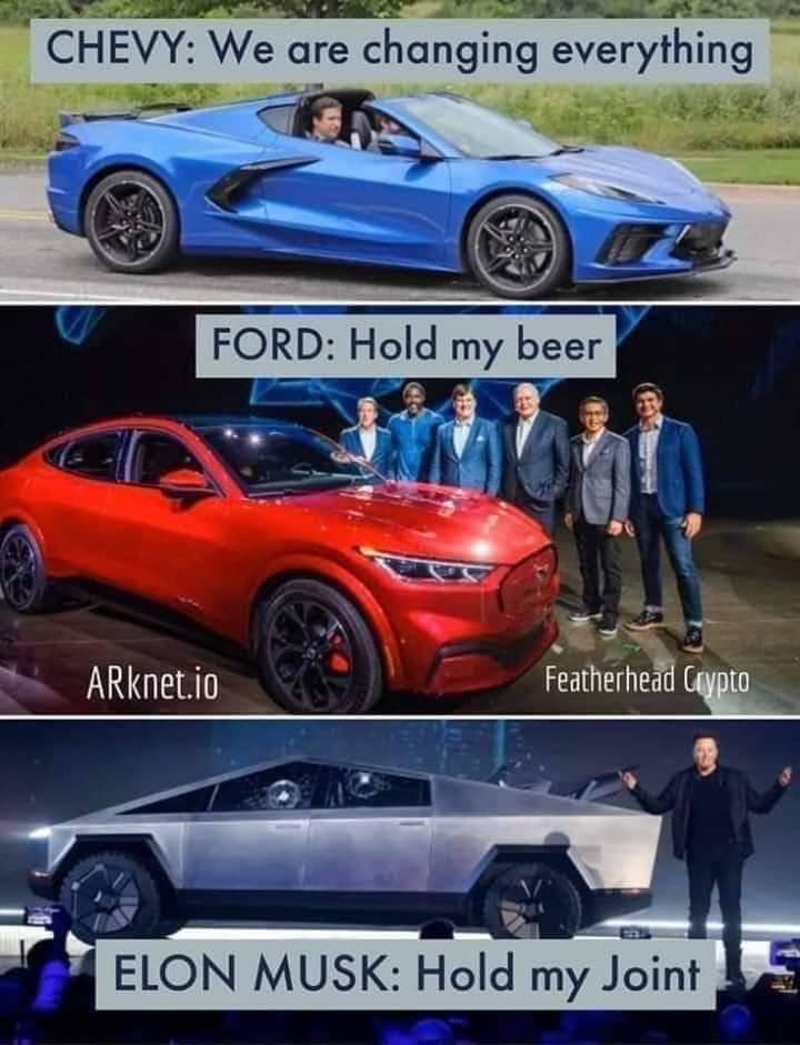 Yet another Tesla bashing meme