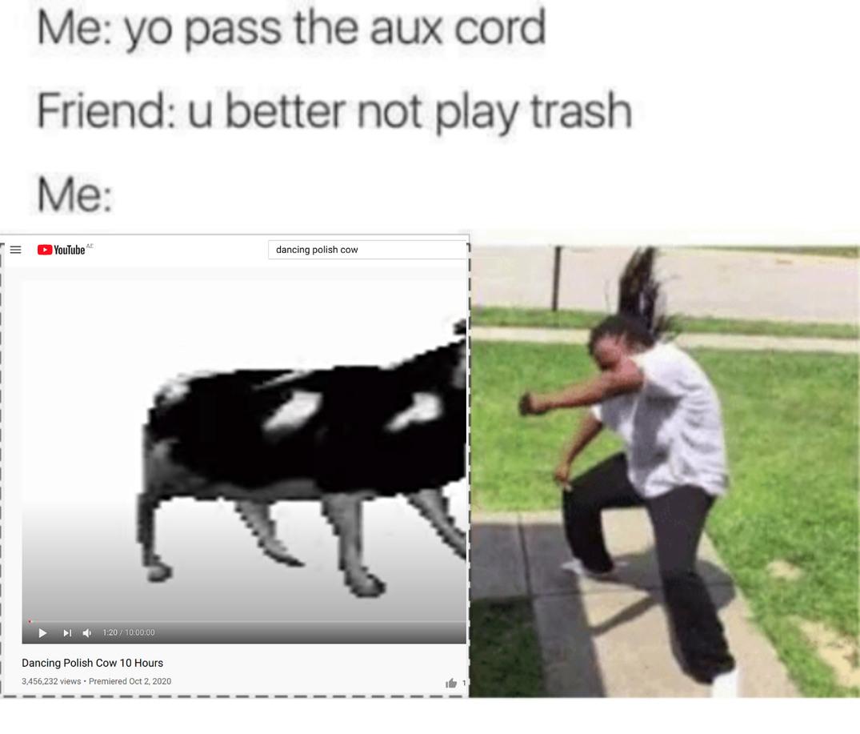 dancin' polish cow - meme