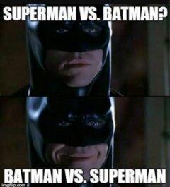 Batman is happy - meme