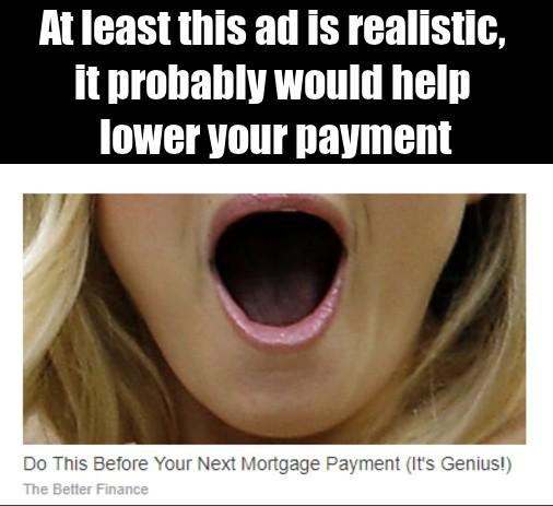 Website ads are getting honest - meme