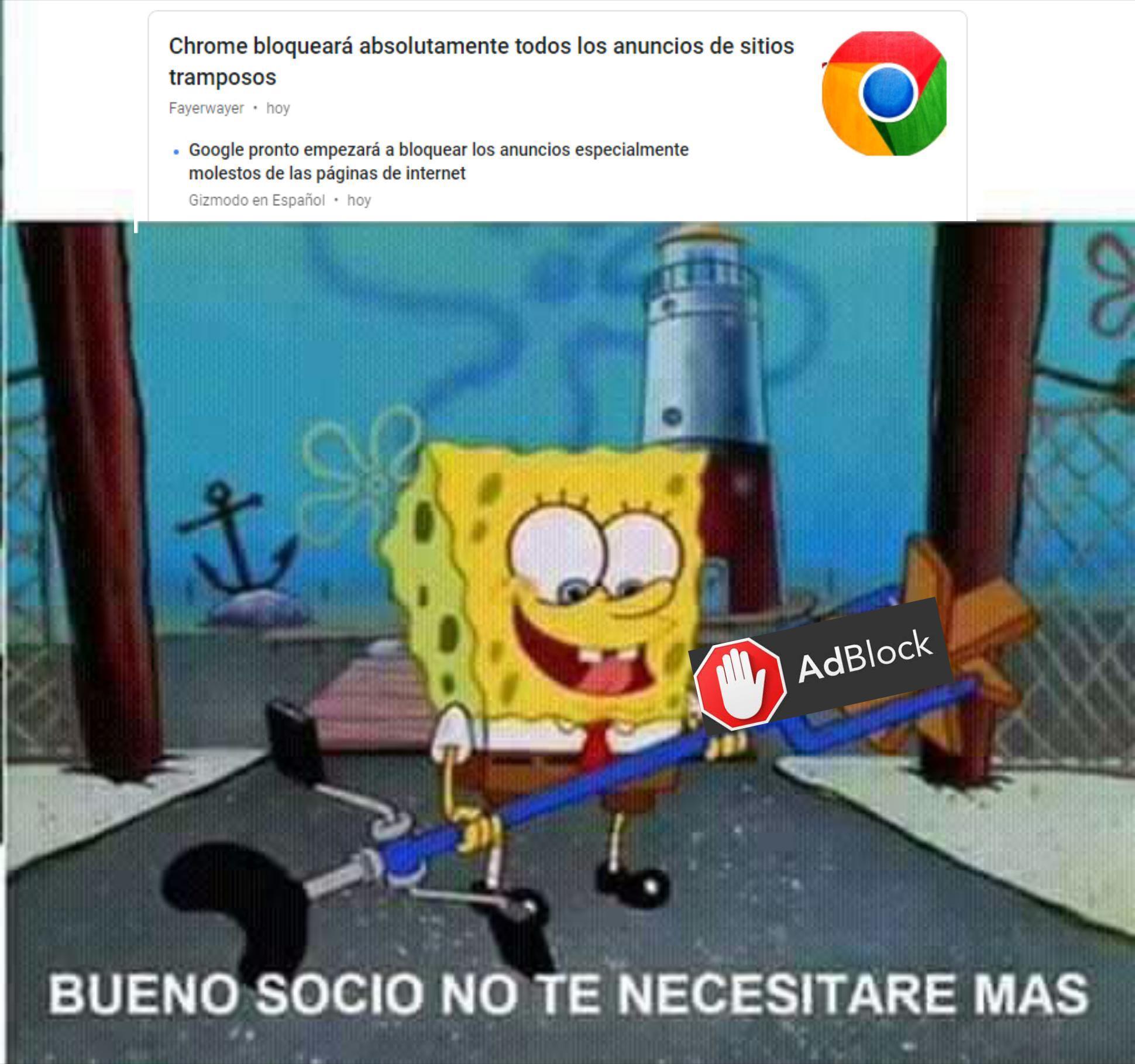 Adios adblock - meme
