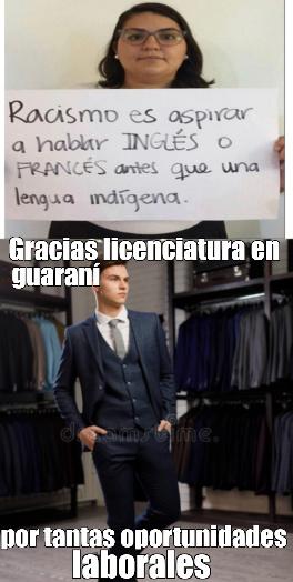 Muchas gracias licenciatura en guaraní - meme