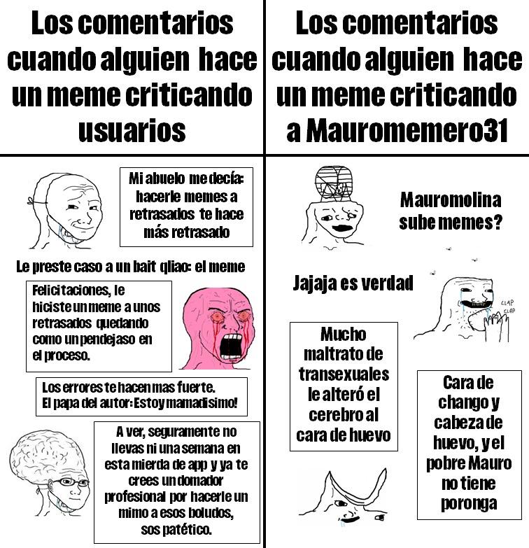 Hipocresía de Pendejodroiders - meme