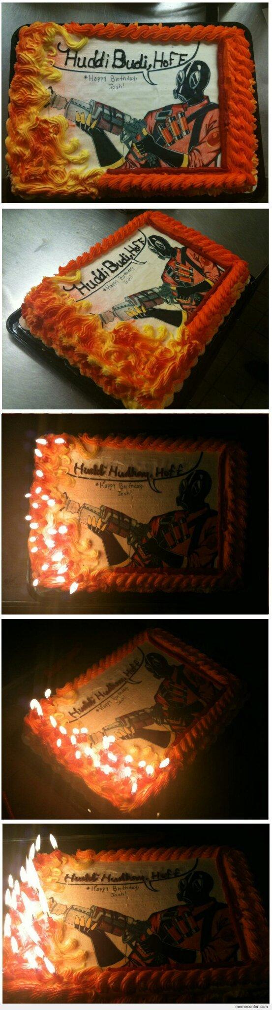 The cake is a spy! - meme