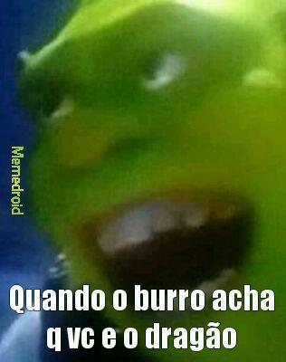 Burro comedor de dragoes - meme