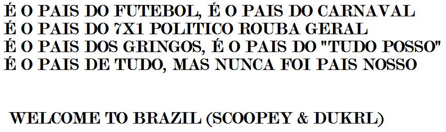 """BEM-VINDO AO BRASIL"" - meme"